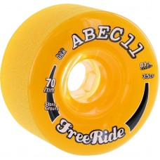 Abec11 Freeride Stone Ground 70mm 81a Amber Clear Wheels