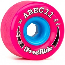 Abec 11 Freeride Stone Ground 70mm 84a Pink Blue Wheels