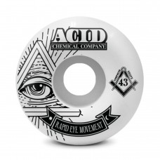 Acid REM Pyramid 54mm 101a White Wheels