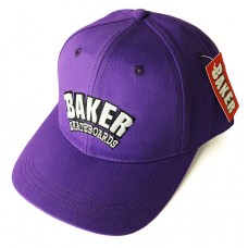 Baker Arch Velcro Closure Snap Back Hat Purple
