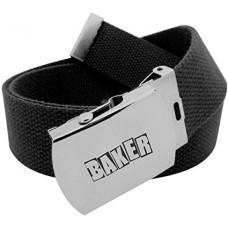 Baker Brand Logo Web Belt Black