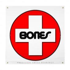Bones Swiss White 36x36 Vinyl Banner