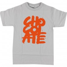 Chocolate Brushed S/S T-shirt SM Silver Orange