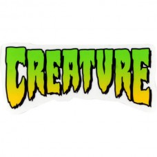 """Creature Logo 4"""" X 2""""Decal Clear Green Yellow"""