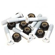Essentials White 1 Inch Phillips Bolts