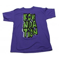 Foundation Blockie S/S T-shirt MED Purple