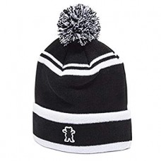 Grizzly Gram Pom Beanie Black White