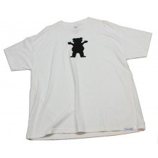 Grizzly Bear Logo S/S T-shirt XXL White