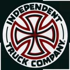 """Independent Red White Cross 3"""" Decal Single"""