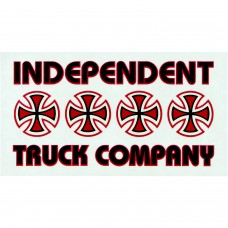 Independent Stacked Color Decal 5.5x3 Asst