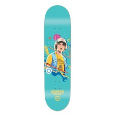 Madrid Stranger Things 3 Dustin Illustrated Graphic Blue Background 8.25 Deck