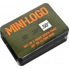 Mini Logo Risers Single .5 Black Set