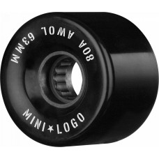 Mini Logo A.W.O.L 63mm X 80 Black
