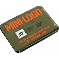 Mini Logo Riser Pad Rubber .1 Black Set