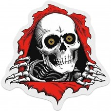 """Powell Ripper 3"""" Decal Clear Red Black White"""