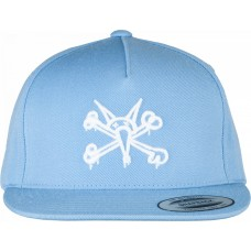 Powell Cap Snapback Pp Vato Rat 3 Powder Blue
