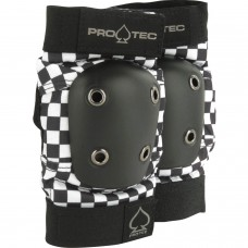 Pro Tec Street Elbow Med Check Black White