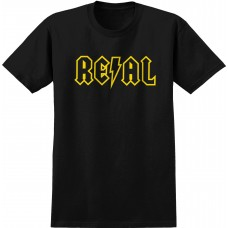 Real Deeds Outline S/S T-shirt Black Yellow LG