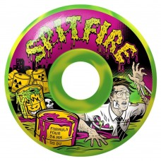 Spitfire Wheels F4 99 Toxic Apocalypse Green Yellow 52mm