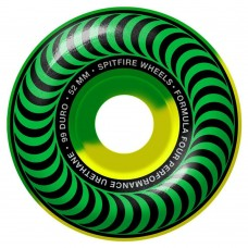 Spitfire Wheels F4 Classic Green Yellow 52mm