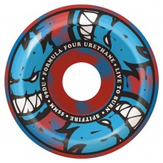 Spitfire F4 99 Afterburners Blue Red Swirl Conical Full 53mm Wheels