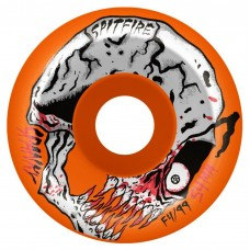Spitfire F4 99 Spanky Neckface X Spitfire Neon Orange 52mm Conical Full Wheels