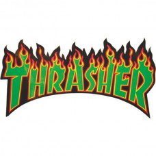 Thrasher Flame Logo Sticker Med Asst