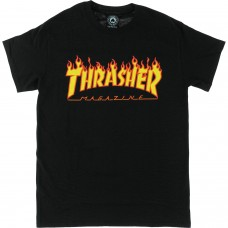 Thrasher Flame SS L Black