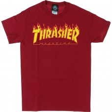 Thrasher Flame Ss L Cardinal Red