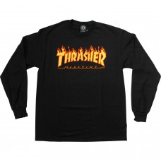 Thrasher Flames LS M Black Yellow