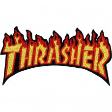 Thrasher Flame Logo Patch Yellow Orange 2.4 x 4.5