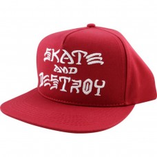 Thrasher Sk8 & Destroy Hat Adj Blood Red