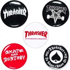Thrasher 5 Button Pin Pack