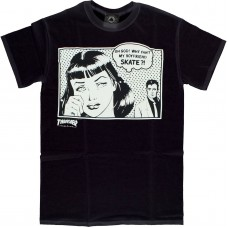 Thrasher Boyfriend S/S T-shirt MED Black