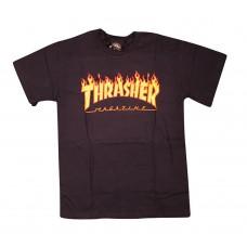 Thrasher Flame S/S T-shirt LG Navy