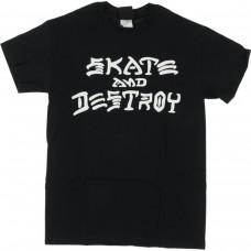 Thrasher Skate & Destroy S/S T-shirt SM Black