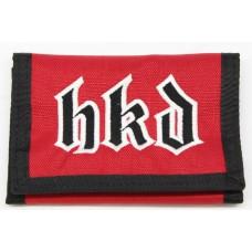 HKD Embroidered Tri-Fold Wallet