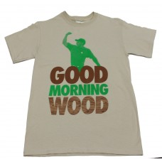 Hubba Good Morning Wood S/S T-shirt Tan