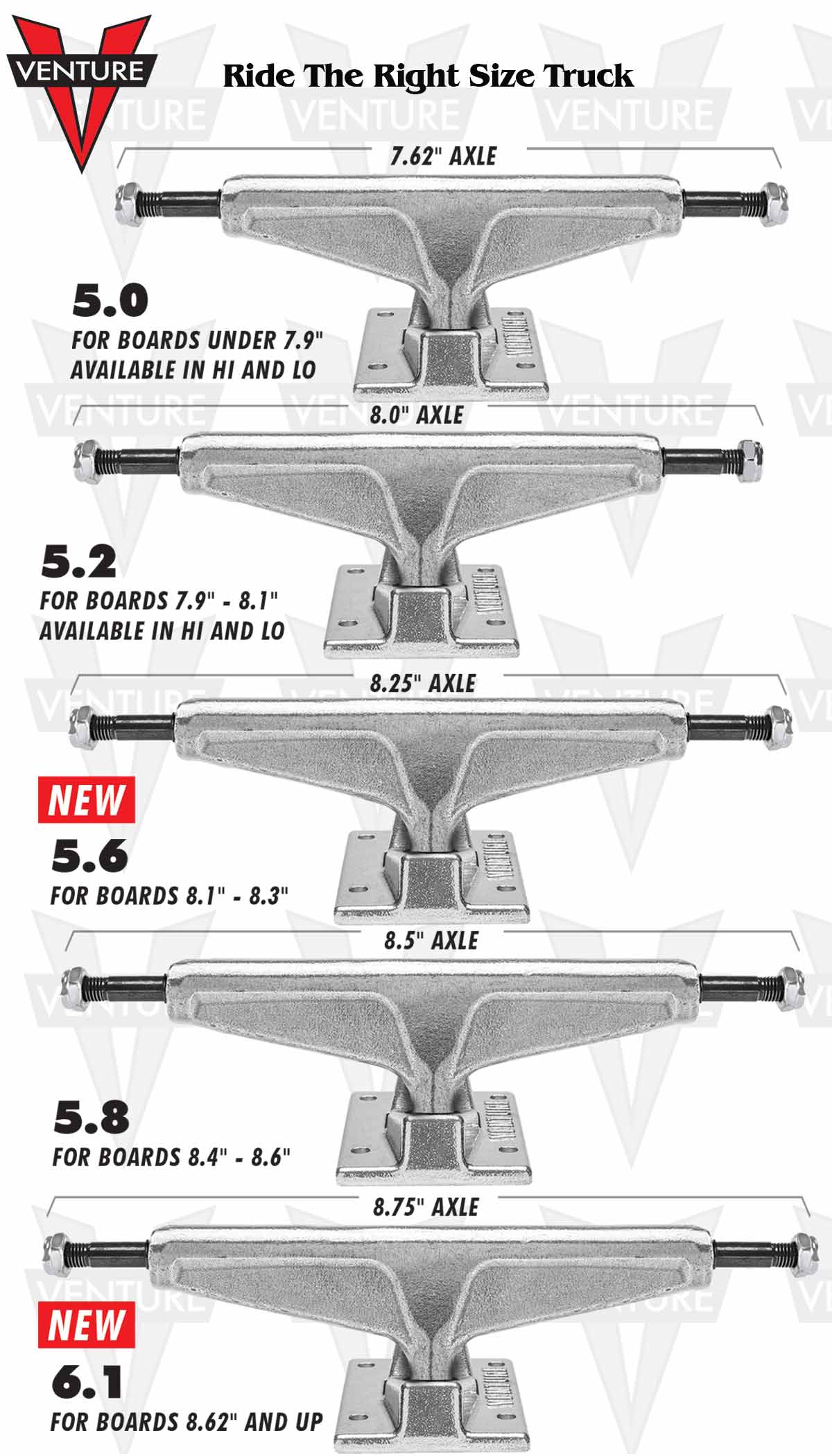 Truck Size Charts